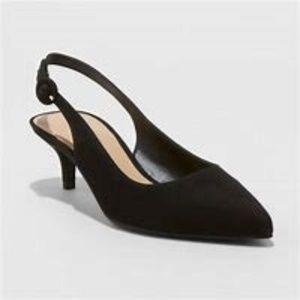 A New Day Meghan Black Kitten Heels Pumps Shoe 6.5